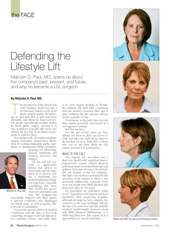 Letter to the Editor: Is it Time to Pull the Plug on Lifestyle Lifts?