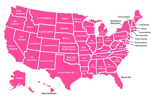 Your State's Most Googled Plastic Surgery
