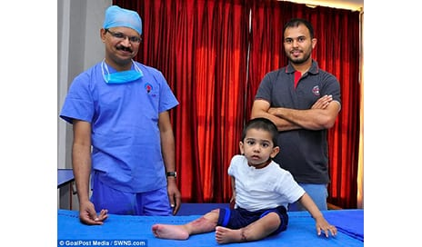 Heart-Warming Moment Boy, 2, Who Had Both Legs Severed in a Train Accident, Takes His First Steps After Surgeons Reattached Them