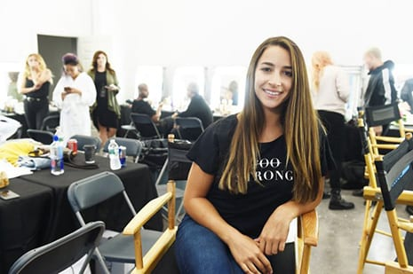 Aly Raisman Takes On Olay's Makeup-Free Runway with Total Confidence