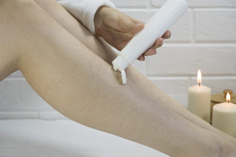 How to Remove Unwanted Hair Using a Cream, Lotion or Gel